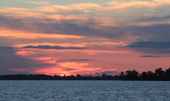 Dusk at Reelfoot Lake photography by Lisa Ernst