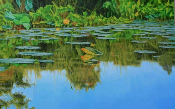 "Golden Afternoon at Reelfoot Lake, 30"" x 4*"""